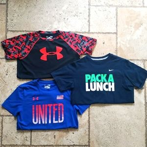 Back to school boys shirts. Under Armor and Nike!